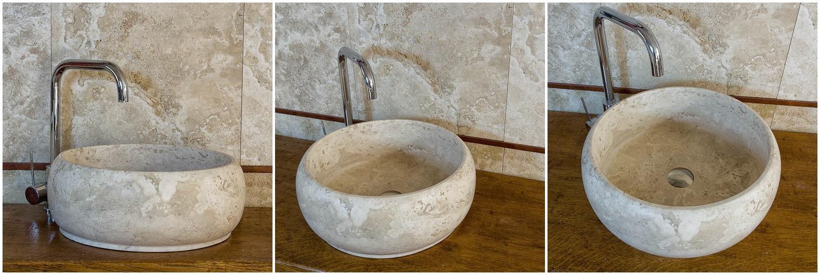Lavabi in pietra lavandini in marmo lavabo in travertino - Lavabi bagno in pietra ...