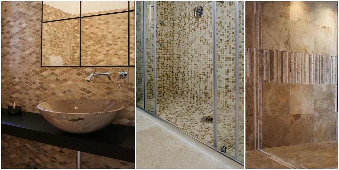 Mosaici in pietra naturale per rivestimento bagni - Mosaico pavimento bagno ...