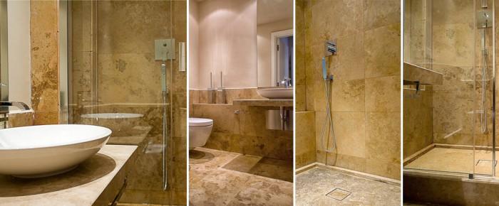 Mosaico in travertino - Rivestimenti bagno firenze ...