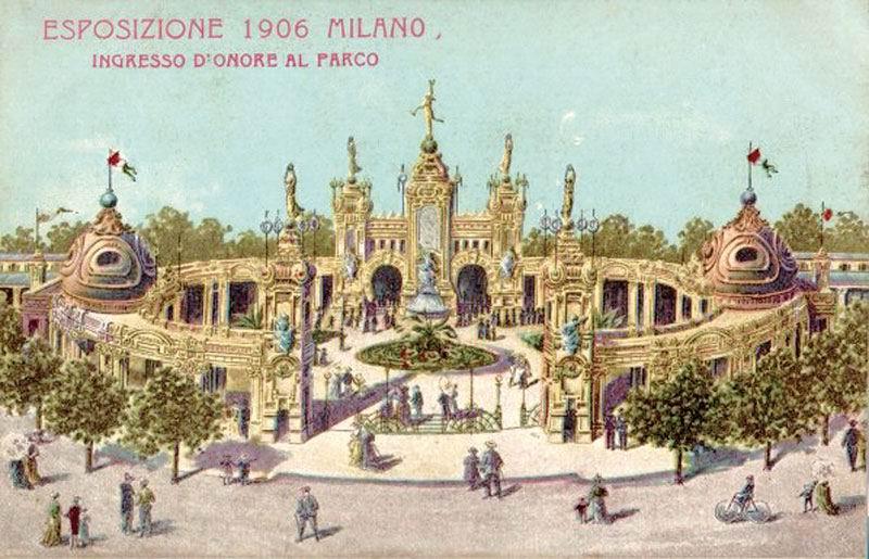 Expo milano 1906 cartolina vintage architettura milan for Esposizione universale expo milano 2015
