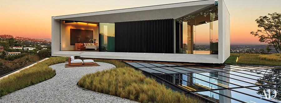 villa michael bay los angels architectural digest progetto bagni travertino