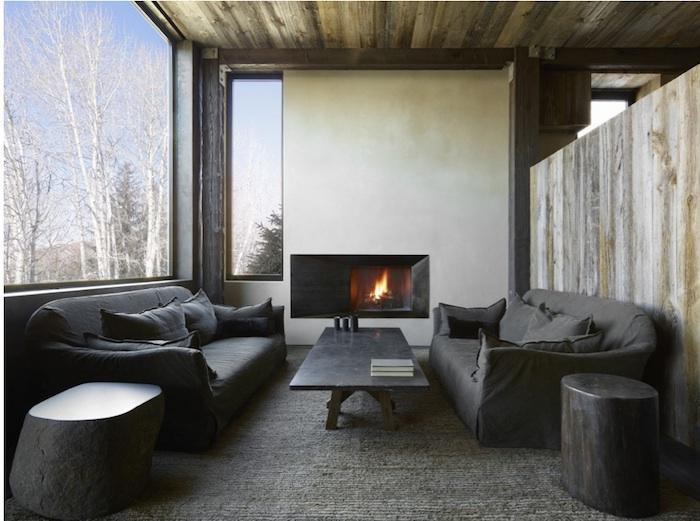 Bagno Rustico Realizzato Pietra E Legno Rustic Design : Uno chalet tra le montagne di aspen firmato da oppenheim