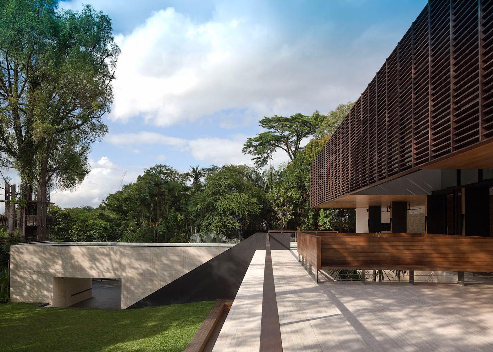pavimenti esterni in travertino singapore gallop house