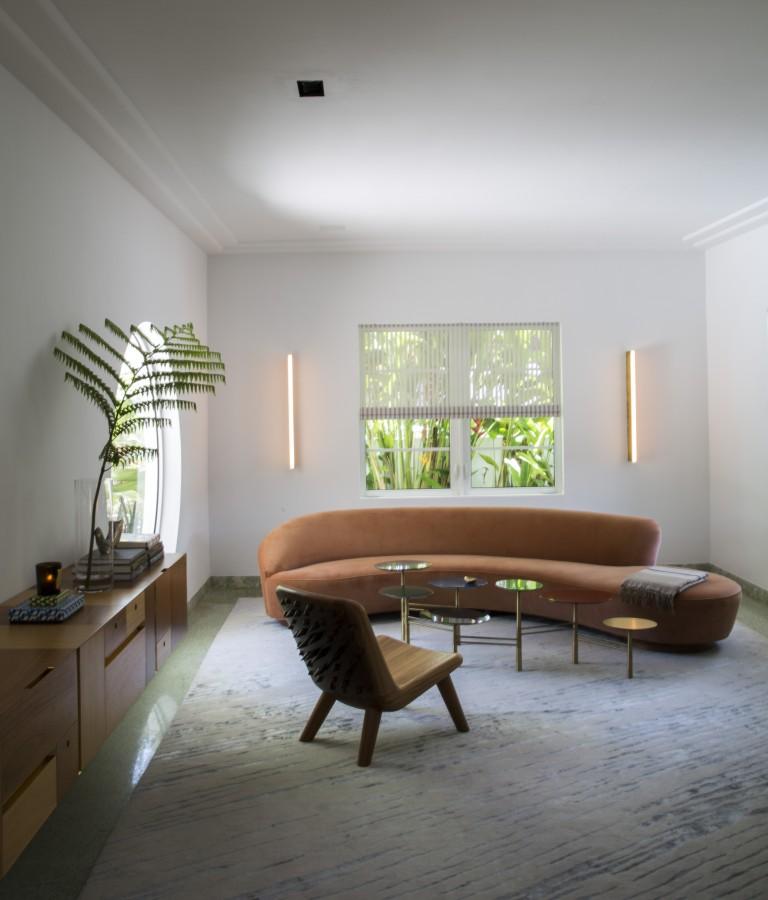 appartamento miami art deco tappeto acqua kelly wearstler