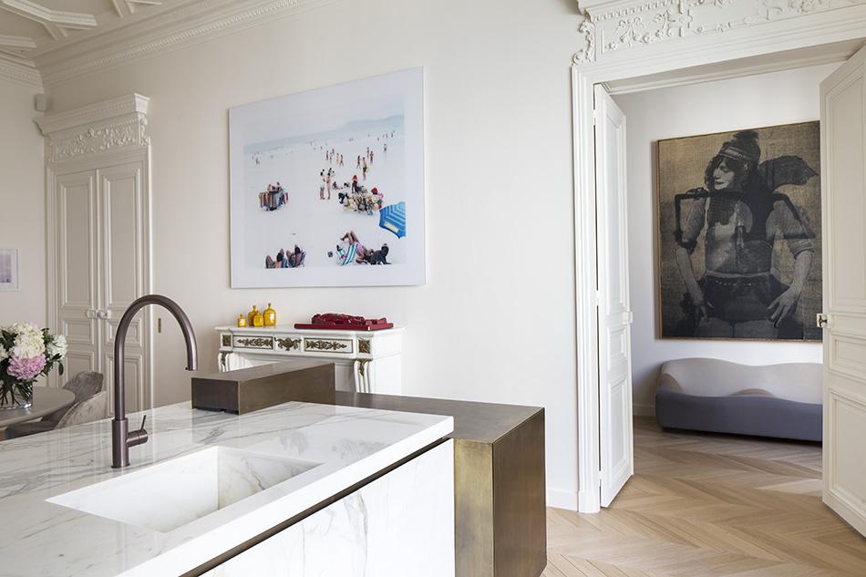 rodolphe-parente-flat-trocadero-paris-parigi-interni-kitchen-cucina-marmo-piano-counterpoint