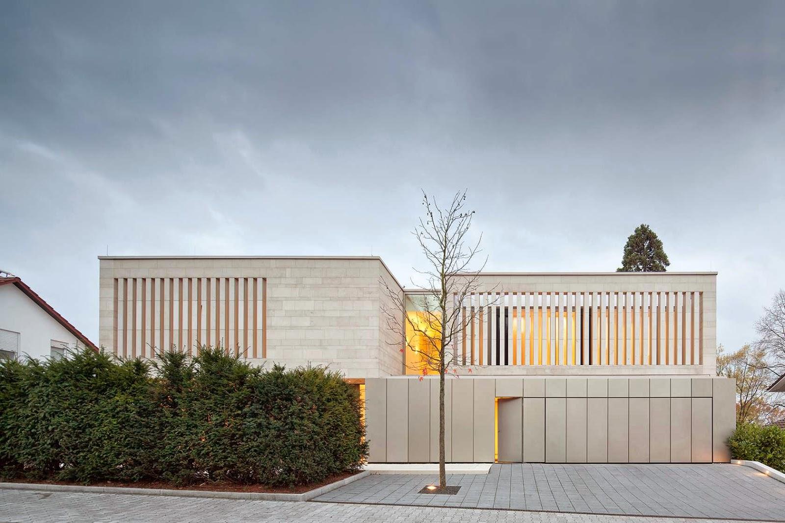 facciata in pietra Architekten Wannenmacher + Möller house p+g