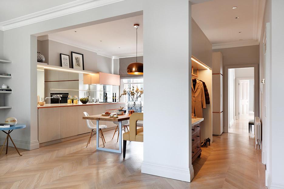 cucina rame appartamento londra mwai studio