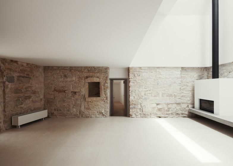 minimale rustico dettagli in legno e pietra house serra de janeanes joao branco architettura portoghese