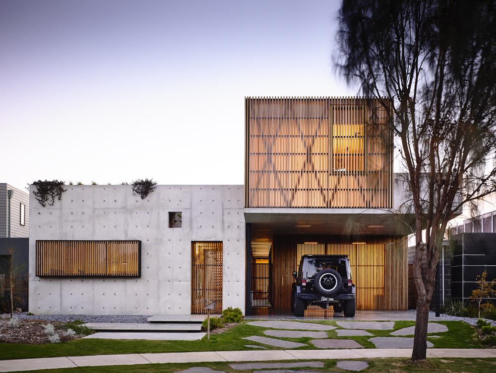 auhaus torquay abitazione in cemento armato esterni facciata legno