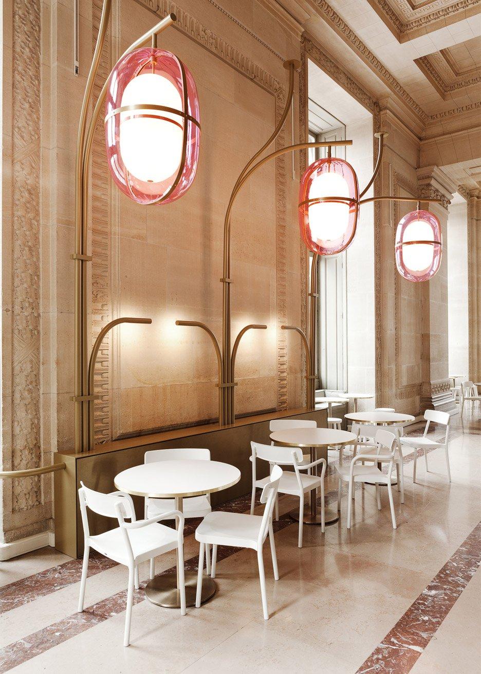 interni caffe storico louvre designer francese mathieu lehanneur