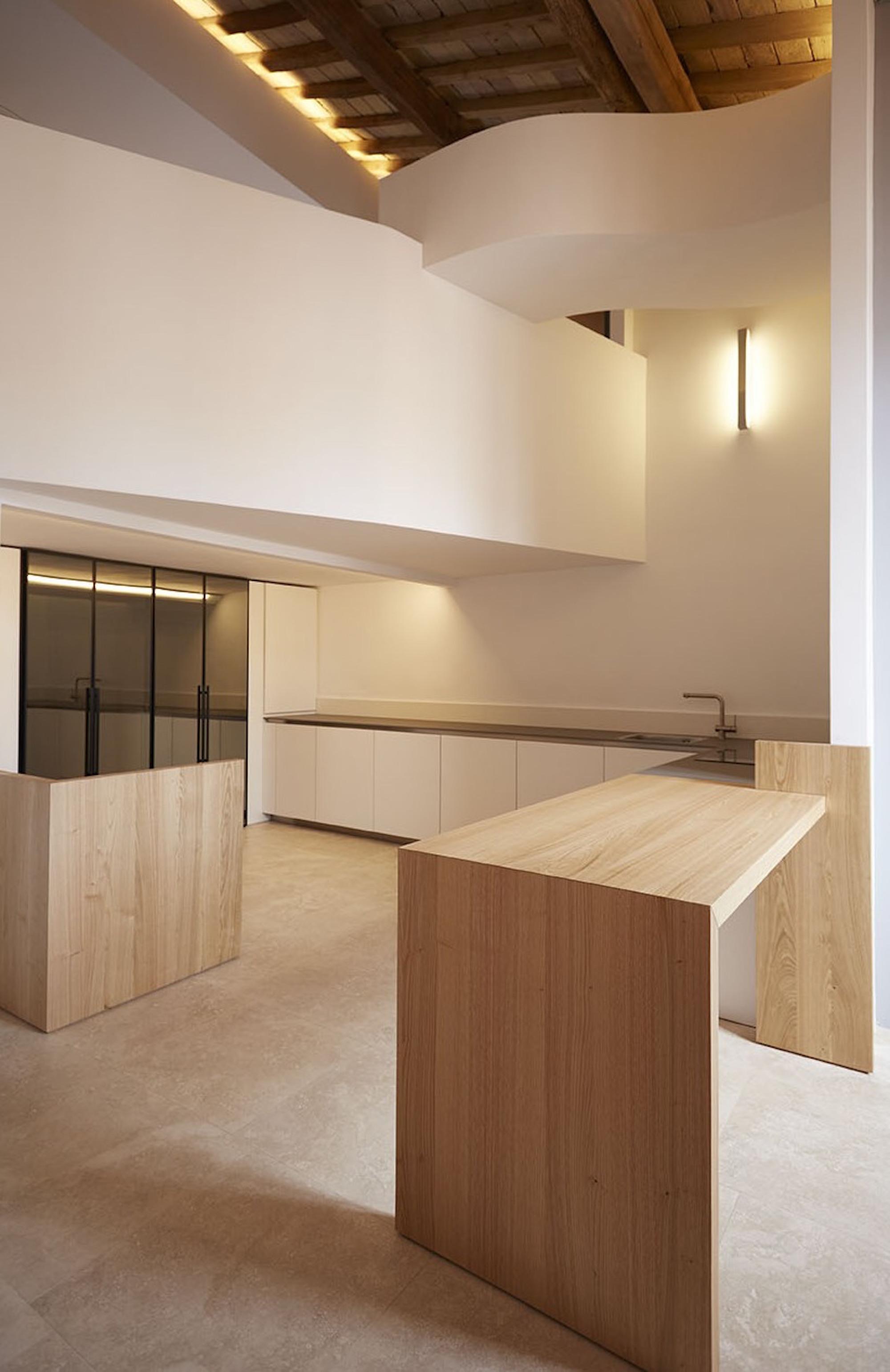 interni minimali loft a roma palazzo storico
